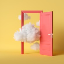 3d Render, White Fluffy Clouds...