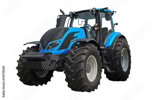 Photo Modern agricultural tractor isolated on a white background