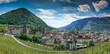 panorama view of the city of Chur in Switzerland