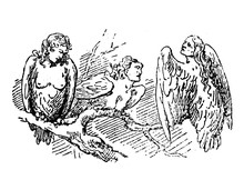 Three Harpies, Creatures Half-...