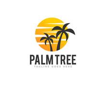 Palm Tree Logo Design Vector