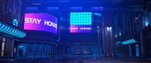 Neon Futuristic City. Photorea...