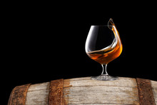 Brandy Or Cognac In Glass
