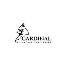 Cardinal Bird Logo Design Vector