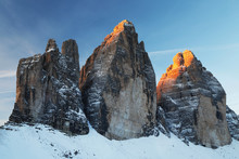 View Of Rock Formations In Winter