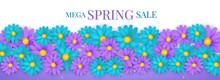 Spring Sale Banner Or Newslett...