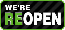 We Are ReOpen Signage Or Entra...