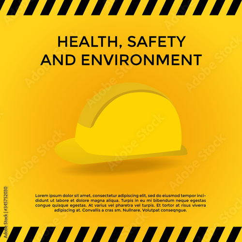 Health Safety Environment (HSE) acronym concept Canvas Print