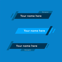 Geometric Modern Lower Third Banner Template. Lower Banner Symbol For Your Web Site Design, Logo, App, UI. Vector Illustration, EPS10.