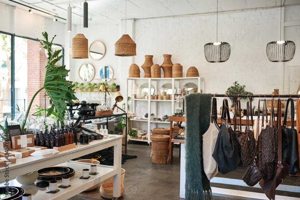 Fototapeta Interior of a stylish shop selling an assortment of items