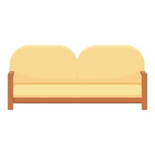 Sofa Home Furniture Icon. Cartoon Of Sofa Home Furniture Vector Icon For Web Design Isolated On White Background