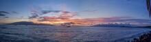 Panoramic Sunset From Lahaina Maui Hawaii