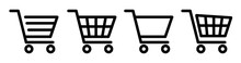 Shopping Cart Icon Set.Shoppin...