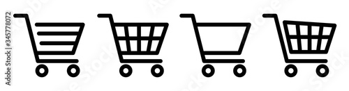 Shopping cart icon set Fototapeta