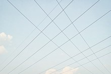 Crossing Of Electric Wires In The Sky