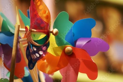 Fotografia, Obraz Close-up Of Multi Colored Pinwheel Toys
