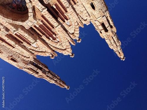 Obraz na płótnie Directly Below View Of Santuario De Santa Maria Magdalena Against Clear Sky