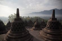 Stupas Of A Buddhist Temple
