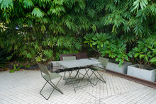 Outdoor Seats In A Courtyard S...