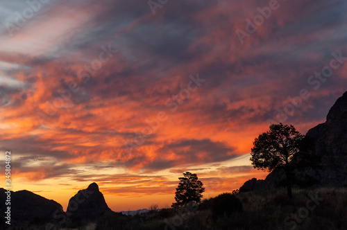 Clouds at sunset;  Big Bend Nat Park;  TX