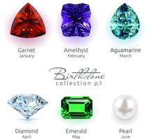 Realistic Birthstones Collecti...