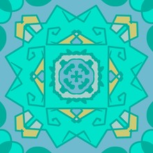 Blue And Green Geometric Manda...