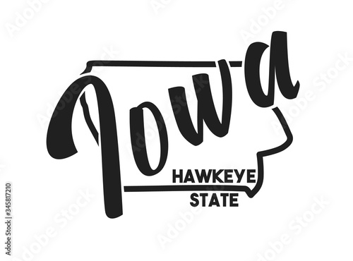 Photo Iowa vector illustration