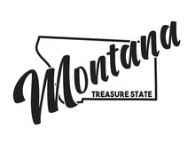 Vector Image Of Montana. Lette...