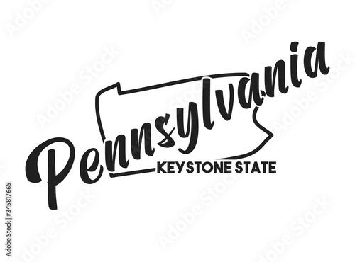 Fotografie, Obraz Pennsylvania vector silhouette