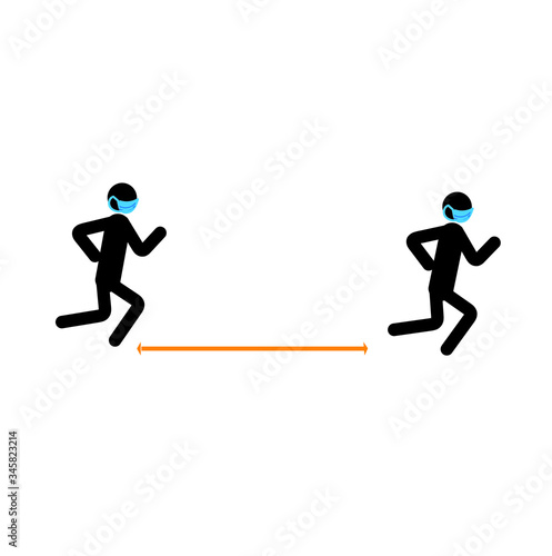 Running Stick Figure   Stick figures, Stick figure running, Running drawing