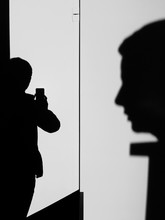 Silhouette Man Photographing W...