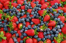 Strawberries And Blueberries V...