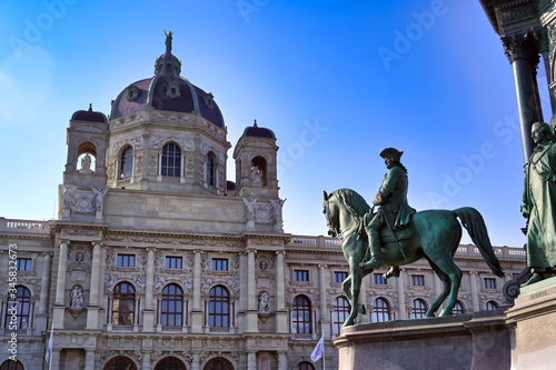 Photo Vienna, Austria - May 18, 2019 - The  Naturhistorisches Museum or Natural History Museum located in Vienna, Austria