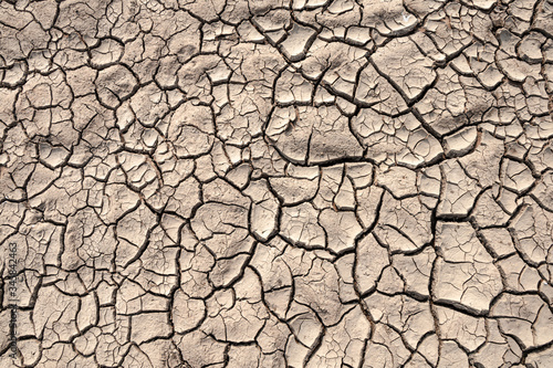 Photographie Ground cracks drought crisis environment background.