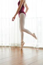 Cropped Image Of Ballet Dancer...