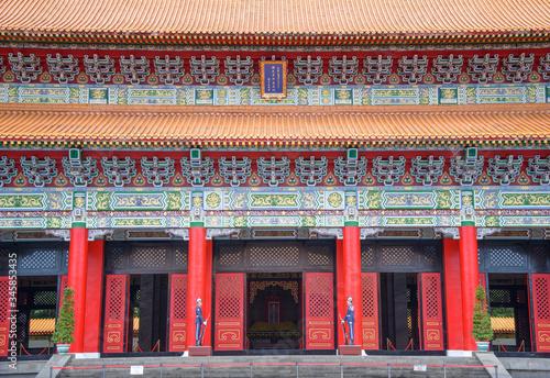 Taipei, Taiwan - April 22, 2020 : Taipei Martyrs' Shrine Fototapeta