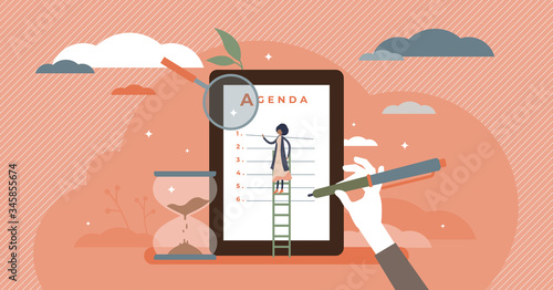 Photo Meeting agenda vector illustration