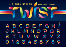 Vector Of Twist Ribbons Alphab...