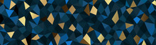 Luxury Blue Geometric Background Vector. Abstract Pattern. Polygonal Wallpaper Vector Illustration.