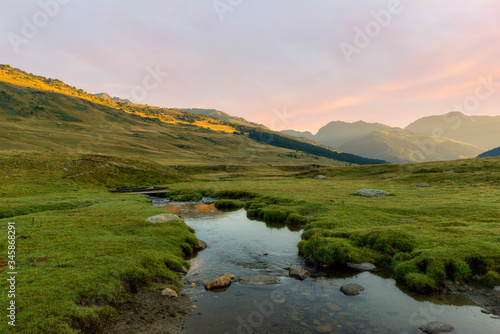 Photo A river in the Aran Valley of the Pyrenees, Lleida