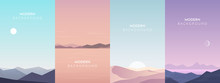 Vector Banners Set With Polygo...