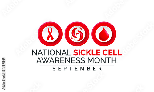 Vector illustration on the theme of National sickle cell awareness month observed each year during September Fototapete