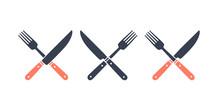 Set Of Restaurant Knife, Fork....