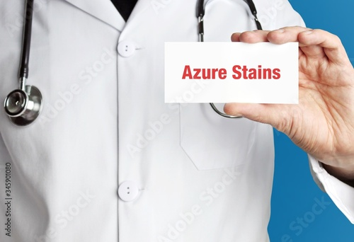 Azure Stains Canvas Print