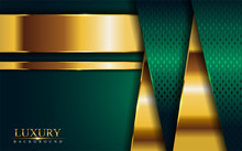 Luxury Green Background With G...