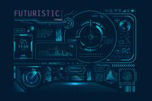 Futuristic HUD Ui For App. Use...
