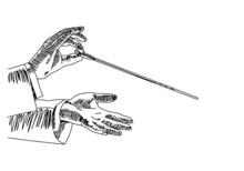 Vector Sketch Of The Hands Of ...