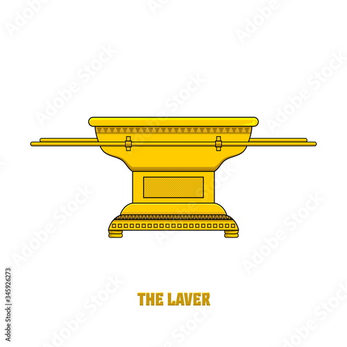 Obraz na plátne The laver, set in the tabernacle and temple of Solomon