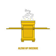The Altar Of Incense, Installed In The Tabernacle And Temple Of Solomon. A Ritual Object In The Rites Of The Jewish Religion.