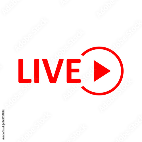 Live Stream sign Fototapet